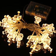 cheap -2m String Lights 20 LEDs Warm White Decorative AA Batteries Powered 1 set