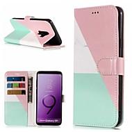 Недорогие Чехлы и кейсы для Galaxy S8-Кейс для Назначение SSamsung Galaxy S9 / S8 Plus Кошелек / Бумажник для карт / со стендом Чехол Мрамор Твердый Кожа PU для S9 / S9 Plus / S8 Plus