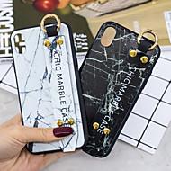 Недорогие Кейсы для iPhone 8 Plus-Кейс для Назначение Apple iPhone XR / iPhone XS Max со стендом Кейс на заднюю панель Мрамор Мягкий ТПУ для iPhone XS / iPhone XR / iPhone XS Max