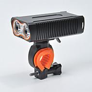 お買い得  フラッシュライト/ランタン/ライト-自転車用ヘッドライト LED 自転車用ライト サイクリング 防水, パータブル 18650 1600 lm 18650 ホワイト キャンプ / ハイキング / ケイビング / サイクリング