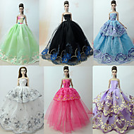 cheap Toy & Game-Princess Lolita / Elegant / Ball Gown Dresses 6 pcs For Barbie Doll Organza Doll Clothes For Girl's Doll Toy
