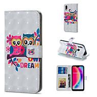 preiswerte Handyhüllen-Hülle Für Huawei P20 Pro / P20 lite Geldbeutel / Kreditkartenfächer / mit Halterung Ganzkörper-Gehäuse Eule Hart PU-Leder für Huawei P20 Pro / Huawei P20 lite / P10 Lite
