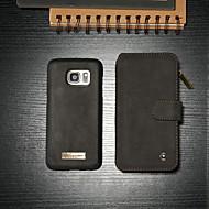 abordables Galaxy S7 Carcasas / Fundas-CaseMe Funda Para Samsung Galaxy S7 Cartera / Soporte de Coche / con Soporte Funda de Cuerpo Entero Un Color Dura Cuero de PU para S7