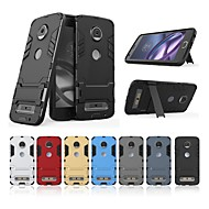 Case For Motorola MOTO Z2 play Shockproof / with Stand Back Cover Solid Colored / Armor Hard PC for Moto Z2 play