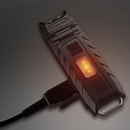 お買い得  フラッシュライト/ランタン/ライト-Nitecore THUMB キーホルダー型フラッシュライト LED エミッタ 85 lm 3 照明モード 充電式, 調光可能, アングルライトのヘッド部 キャンプ / ハイキング / ケイビング, 日常使用, 屋外 ブラック