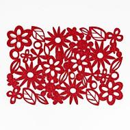 abordables Textiles para el Hogar-Hogar multifunción creativo decoración verde artesanía floral almohadilla de aislamiento de poliéster antideslizante antideslizante mantel