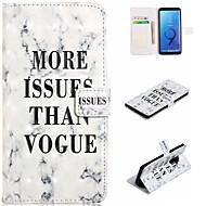 abordables Galaxy S8 Carcasas / Fundas-Funda Para Samsung Galaxy S9 Plus / S9 Cartera / Soporte de Coche / con Soporte Funda de Cuerpo Entero Palabra / Frase / Mármol Dura Cuero de PU para S9 / S9 Plus / S8 Plus