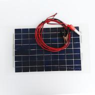 zdm 18v 12v 10wソーラーカーバッテリー充電器ポータブル太陽光発電ソーラーパネルトリクル充電器シガレットライタープラグ、バッテリーチャージオートバイ用クリップラインrvボート海洋スノーモービル