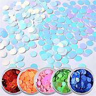 ราคาถูก -6 pcs ลายเลื่อม เปลี่ยนสีได้ / การออกแบบที่บางเฉียบ ชายหาด เล็บ ทำเล็บมือเล็บเท้า ทุกวัน / เทศกาล Tropical / แฟชั่น