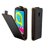 お買い得  携帯電話ケース-ケース 用途 Alcatel アルカテルU5 4G カードホルダー / フリップ フルボディーケース ソリッド ハード PUレザー のために Alcatel U5 4G