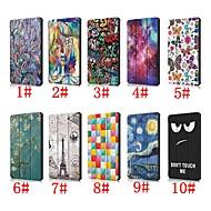 お買い得  携帯電話ケース-ケース 用途 Huawei Huawei Mediapad T5 10 / Huawei Mediapad M5 Lite 10 スタンド付き / フリップ / パターン フルボディーケース アニマルプリント / 風景 / エッフェル塔 ハード PUレザー のために Huawei Mediapad T5 10 / Huawei Mediapad M5 Lite 10