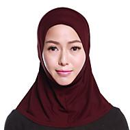 billige Tørklæder og sjaler-Dame Basale Hijab Lag-på-lag, Ensfarvet