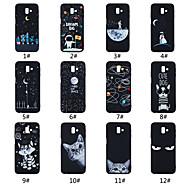 Недорогие Чехлы и кейсы для Galaxy J3(2017)-Кейс для Назначение SSamsung Galaxy J6 / J4 Матовое / С узором Кейс на заднюю панель Слова / выражения / Пейзаж / Животное Мягкий ТПУ для On7(2016) / On5(2016) / J7 Prime