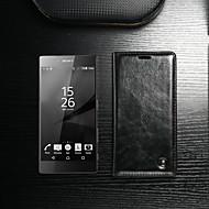 お買い得  携帯電話ケース-CaseMe ケース 用途 Sony Xperia Z5 / Xperia Z4 ウォレット / カードホルダー / スタンド付き フルボディーケース ソリッド ハード PUレザー のために Sony Xperia Z5 Premium / Sony Xperia Z4 / Sony Xperia Z5