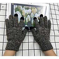 cheap -men's wrist length fingertips gloves - color block / solid colored