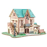 お買い得  -ウッドパズル 論理的思考おもちゃ&パズル 童話テーマ アーキテクチャ 中国建造物 アニマル 動物 手作り 親子インタラクション 木製 1 pcs 子供 青少年 フリーサイズ おもちゃ ギフト