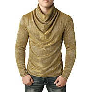 cheap -Men's Exaggerated T-shirt - Solid Colored Sequins