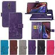preiswerte Handyhüllen-Hülle Für OnePlus OnePlus 6 / One Plus 6T Kreditkartenfächer / mit Halterung / Flipbare Hülle Ganzkörper-Gehäuse Solide / Schmetterling Hart Textil für OnePlus 6 / One Plus 6T / One Plus 5