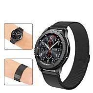 Cinturino per orologio  per Gear S3 Frontier / Gear S3 Classic Samsung Galaxy Cinturino a maglia milanese Acciaio inossidabile Custodia con cinturino a strappo