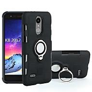 お買い得  携帯電話ケース-ケース 用途 LG K8(2017) / K10(2017) 耐衝撃 / バンカーリング バックカバー 鎧 ハード PC のために LG K10(2017) / LG K8(2017) / Moto C plus
