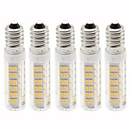 お買い得  LED コーン型電球-5個 4.5 W 450 lm E14 LEDコーン型電球 T 76 LEDビーズ SMD 2835 調光可能 温白色 / クールホワイト 220 V