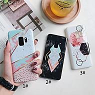 Недорогие Чехлы и кейсы для Galaxy S7-Кейс для Назначение SSamsung Galaxy S9 Plus / S9 IMD / С узором Кейс на заднюю панель Геометрический рисунок / Мрамор Мягкий ТПУ для S9 / S9 Plus / S8 Plus
