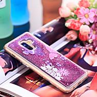 Недорогие Чехлы и кейсы для Galaxy А-Кейс для Назначение SSamsung Galaxy A8 2018 Защита от удара / Сияние и блеск Кейс на заднюю панель Бабочка / Сияние и блеск Мягкий ТПУ для A8 2018