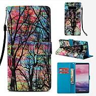 Недорогие Чехлы и кейсы для Galaxy Note 8-Кейс для Назначение SSamsung Galaxy Note 8 Кошелек / Бумажник для карт / Флип Чехол дерево Твердый Кожа PU для Note 8