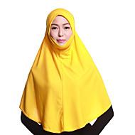Недорогие Шарфы и шали-Жен. Классический Хиджаб - Многослойность Однотонный