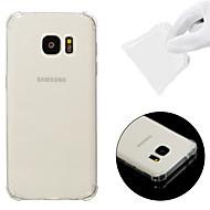Недорогие Чехлы и кейсы для Galaxy S-Кейс для Назначение SSamsung Galaxy S7 Защита от удара / Прозрачный Кейс на заднюю панель Однотонный Мягкий ТПУ для S7