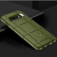Недорогие Чехлы и кейсы для Galaxy S-Кейс для Назначение SSamsung Galaxy Galaxy S10 / Galaxy S10 Plus Защита от удара Кейс на заднюю панель Однотонный Мягкий Силикон для S9 / S9 Plus / S8 Plus