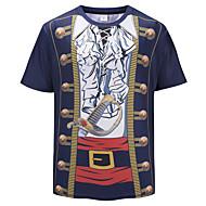 59434f4d3f0 Men s Club Basic   Exaggerated Plus Size T-shirt - Rainbow   Animal ...