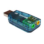 billige -USB2.0 B Adapter / distributør / Switcher, USB2.0 B til 3,5 mm lyd Adapter / distributør / Switcher Han - Hun Forniklet stål 480 Mbps