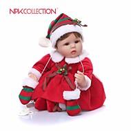 お買い得  -NPKCOLLECTION リボーンドール ガールドール 赤ちゃん(女) 18 インチ プレゼント キュート 人工インプラントブラウンアイズ 子供 女の子 おもちゃ ギフト