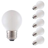 levne -GMY® 6ks 3.5 W 300 lm E26 / E27 LED žárovky s vláknem G16.5 4 LED korálky COB Ozdobné Teplá bílá 120 V