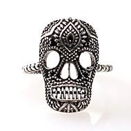 billige -Herre Klassisk Manchet ring Dødningehoved Simple Moderinge Smykker Sølv Til Afslappet Karneval Justerbar