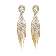 cheap -1 Pair Women's Classic Drop Earrings - Imitation Diamond Dangling Jewelry Gold / Silver For Wedding Party Evening Party