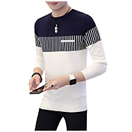povoljno -Muškarci Dnevno Color block Dugih rukava Regularna Pullover Obala / Red / Navy Plava XL / XXL / XXXL