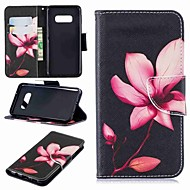 Недорогие Чехлы и кейсы для Galaxy S-Кейс для Назначение SSamsung Galaxy S9 Plus / S8 Plus Кошелек / Бумажник для карт / со стендом Чехол Цветы Твердый Кожа PU для S9 / S9 Plus / S8 Plus
