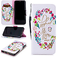 cheap -Case For Samsung Galaxy S9 Wallet / Card Holder / Shockproof Full Body Cases Word / Phrase Hard PU Leather for S9