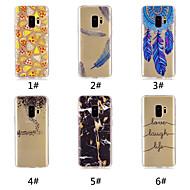 Недорогие Чехлы и кейсы для Galaxy S-Кейс для Назначение SSamsung Galaxy S9 Plus / S9 С узором Кейс на заднюю панель Продукты питания / Слова / выражения / Перья Мягкий ТПУ для S9 / S9 Plus / S8 Plus