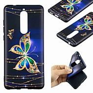お買い得  携帯電話ケース-ケース 用途 Nokia Nokia 5.1 / Nokia 3.1 パターン バックカバー バタフライ ソフト TPU のために Nokia 8 / Nokia 6 / Nokia 5