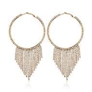 cheap -1 Pair Women's Classic Drop Earrings - Imitation Diamond Stylish Geometric Jewelry Gold / Black / Silver For Wedding Party Date