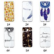 Недорогие Чехлы и кейсы для Galaxy J3(2017)-Кейс для Назначение SSamsung Galaxy J7 (2017) / J5 (2017) С узором Кейс на заднюю панель Продукты питания / Слова / выражения / Перья Мягкий ТПУ для J7 V / J7 (2017) / J7 (2018)