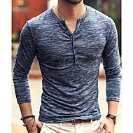 cheap -Men's Street chic T-shirt - Solid Colored