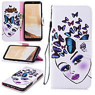 cheap -Case For Samsung Galaxy S8 Wallet / Card Holder / Shockproof Full Body Cases Butterfly / Sexy Lady Hard PU Leather for S8