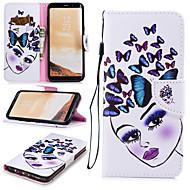 Недорогие Чехлы и кейсы для Galaxy S-Кейс для Назначение SSamsung Galaxy S8 Plus Кошелек / Бумажник для карт / Защита от удара Чехол Бабочка / Соблазнительная девушка Твердый Кожа PU для S8 Plus