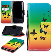 cheap -Case For Samsung Galaxy S9 Wallet / Card Holder / Shockproof Full Body Cases Butterfly Hard PU Leather for S9