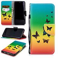 Недорогие Чехлы и кейсы для Galaxy S9-Кейс для Назначение SSamsung Galaxy S9 Кошелек / Бумажник для карт / Защита от удара Чехол Бабочка Твердый Кожа PU для S9