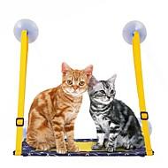 billige -Katte Senge Kæledyr Tæpper Ensfarvet Bærbar Varm Blød Blå For kæledyr